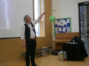 I Do Science - Ian Dunne We were given a whirlwind tour of Science, learning everything from outer space to electricity.